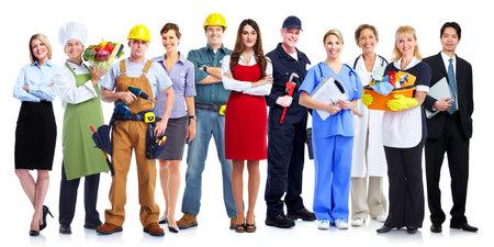 Un groupe de gens d'employés. Équipe d'affaires isolé sur fond blanc. Banque d'images - 22724978