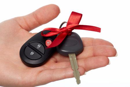 Car keys. Auto dealership and rental concept background. Archivio Fotografico