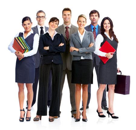 Business people isilated sobre blanco backgorund Foto de archivo - 23087802