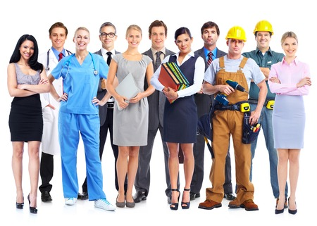Group of professional workers