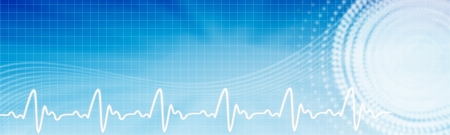 Health care background. Healthcare blue banner with copyspace. Stock fotó