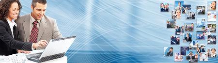 Collage d'affaires fond groupe de gens d'affaires bannière Banque d'images - 24137483