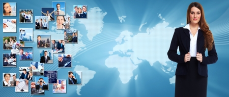 Business people banner collage background design  Success Stock Photo - 24137488