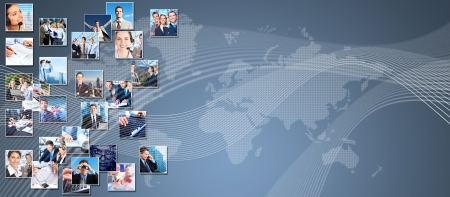 Business people banner collage background design  Success Reklamní fotografie