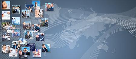 Mensen uit het bedrijfsleven banner collage achtergrond ontwerp Succes
