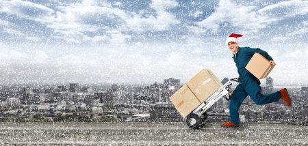 Courir livraison postman Banque d'images - 24137562