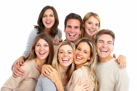 Group of friends young smiling people portrait. Stock Photo