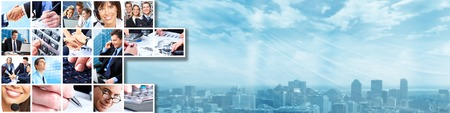 Business banner Stockfoto