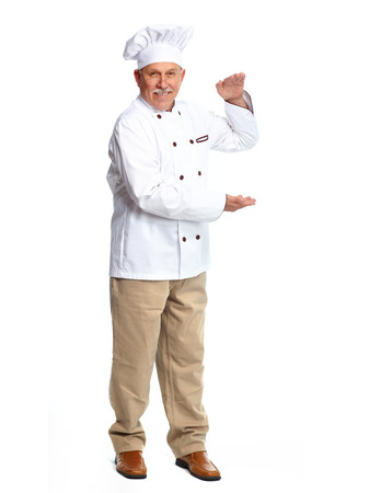 Chef isolated on white 版權商用圖片