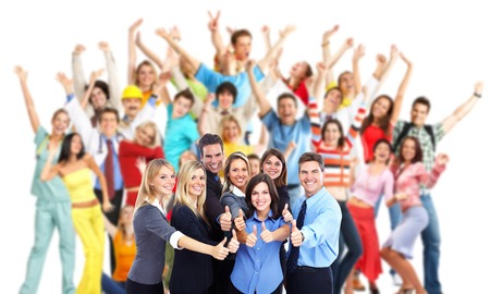 Groep werknemers mensen. Stockfoto