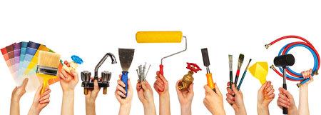 Ensemble d'outils de construction. Banque d'images - 32279074