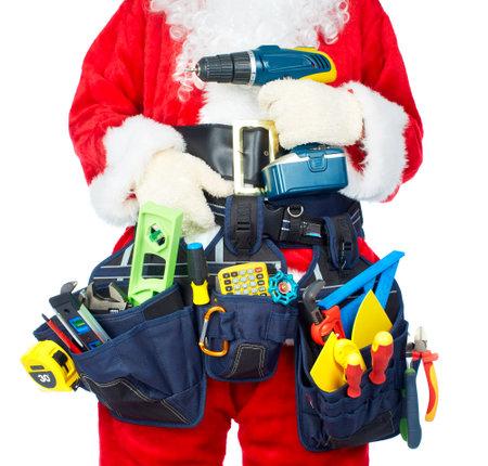 Santa Arbeider met een tool gordel.