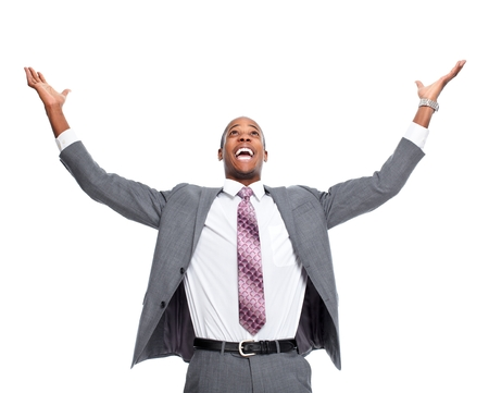Happy African-American man. Stok Fotoğraf