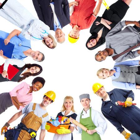 Gruppo di persone di lavoratori. Archivio Fotografico - 35193433