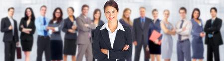 Mujer de negocios y grupo del equipo de personas de los trabajadores. Foto de archivo - 35105505
