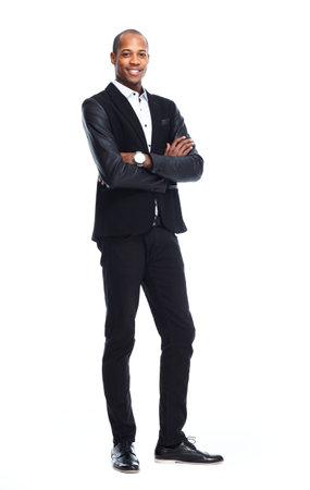 Afro-Amerikaanse man op een witte achtergrond
