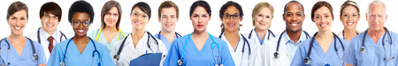 Group of medical doctors. Health care banner background