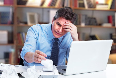 Accountant businessman having a stress