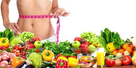 Woman measuring her body 版權商用圖片