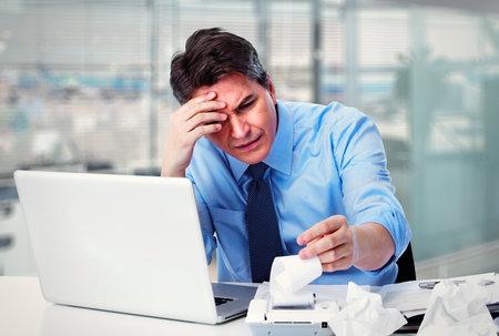 Affaires comptable ayant une contrainte Banque d'images - 35195125