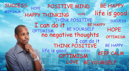 Positive thinking black man