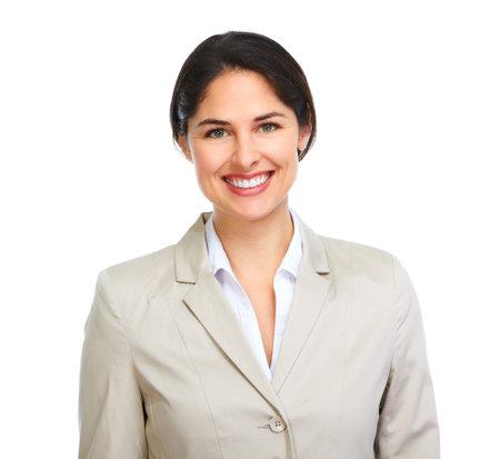 Visage de femme d'affaires. Banque d'images