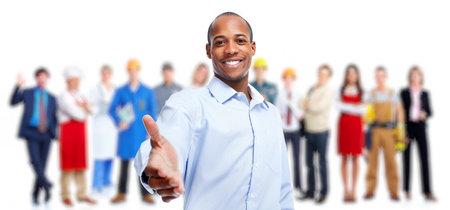 기업인과 노동자 그룹입니다. 팀 작업.