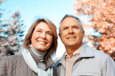 Happy senior couple. Banque d'images
