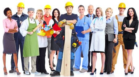 Gruppe von Arbeitern Menschen.