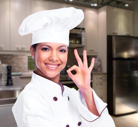 Donna Chef. Archivio Fotografico - 35820649