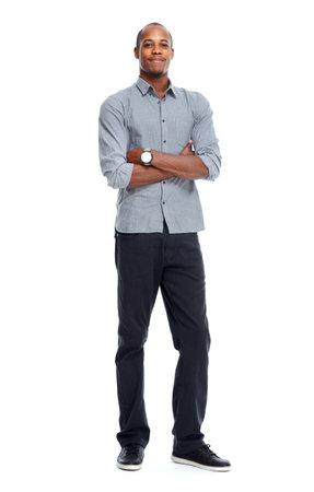 Stilvolle Afro-amerikanische schwarze Mann Standard-Bild - 35958699