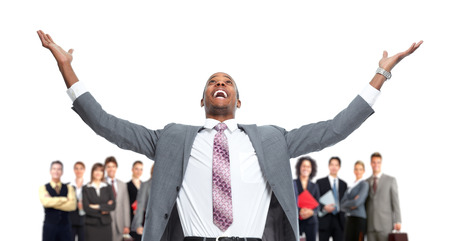 Grupo de gente feliz trabajadores. Foto de archivo - 35965362
