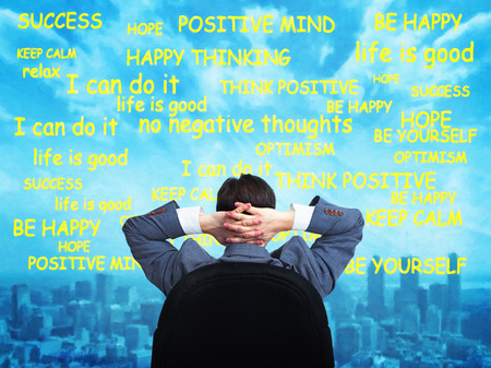 Man positive thinking. Stock Photo