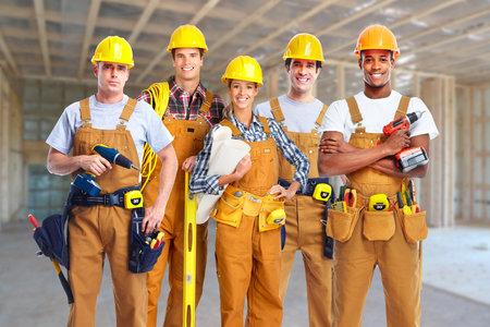Gruppo di lavoratori edili. Archivio Fotografico - 36186187