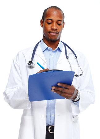 Medical doctor writing prescription. Фото со стока