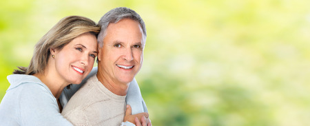 Senior gelukkige paar.