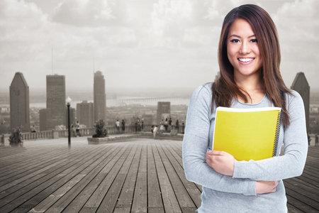 Student woman. 版權商用圖片