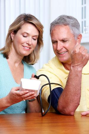 Blood pressure measuring. 스톡 콘텐츠