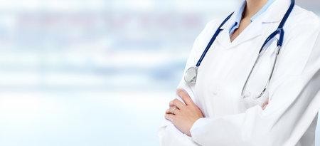 Medical doctor woman hands.