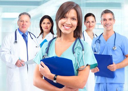 Health care medical doctor woman. Foto de archivo