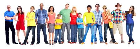 De mensen groeperen. Stockfoto