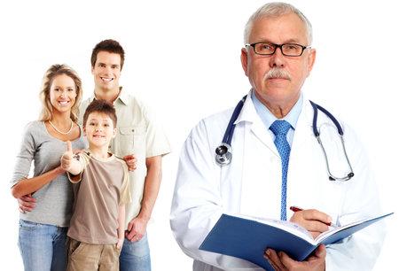 家族医師と患者。