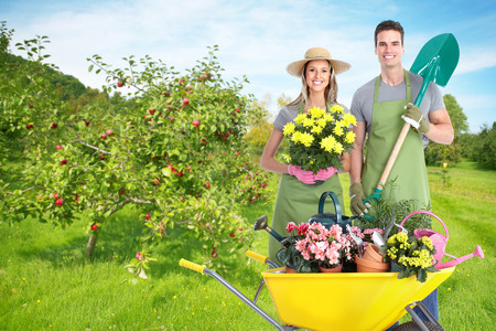 Gardening people. Stock Photo