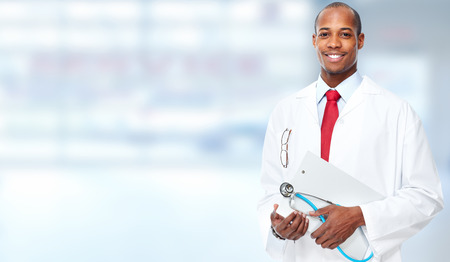 African american medical doctor man. Stock Photo