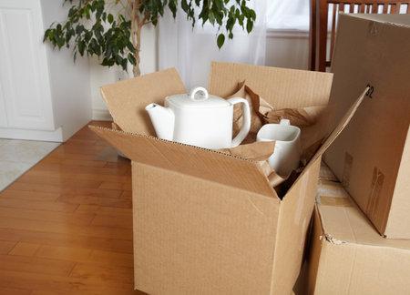 Trasferirsi caselle nella nuova casa. Archivio Fotografico - 38052825