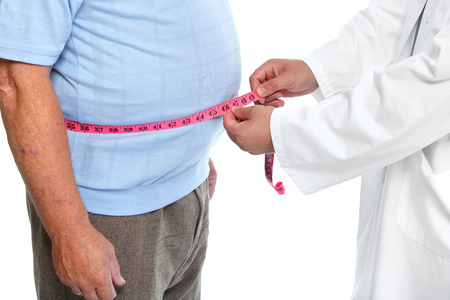 Doctor measuring obese man waist body fat. Obesity and weight loss. 版權商用圖片 - 44594035