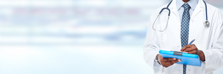 Medical physician doctor hands. Healthcare background banner. Stock Photo - 44873822