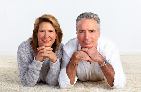 Happy Senior couple relaxing at home. Retirement concept.
