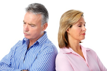 Stressed unhappy senior couple. Relationship and separation problem. Stock Photo - 45791375