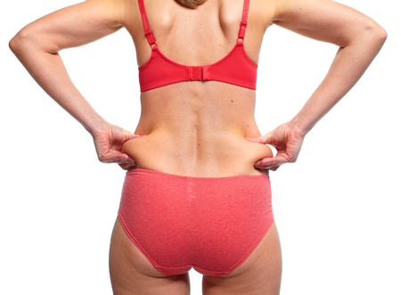 Woman butt. Diet and weight loss concept. Imagens